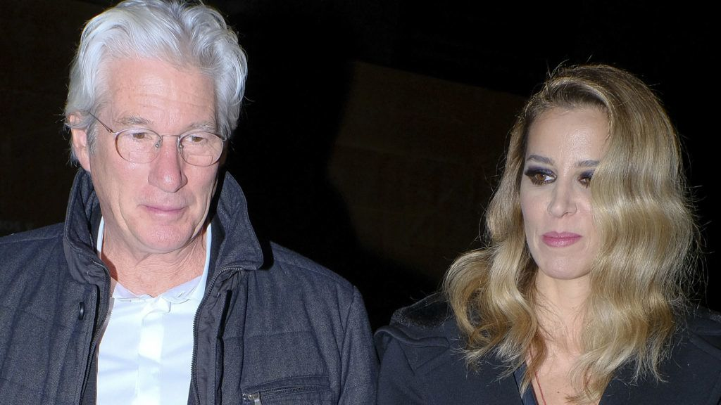 US actor Richard Gere and his Spanish girlfriend Alejandra Silva arrive for the Harper's Bazaar Attitude 43 Awards at the Casino in Madrid, Spain, 30 November 2017.  (Photo by Oscar Gonzalez/NurPhoto via Getty Images)