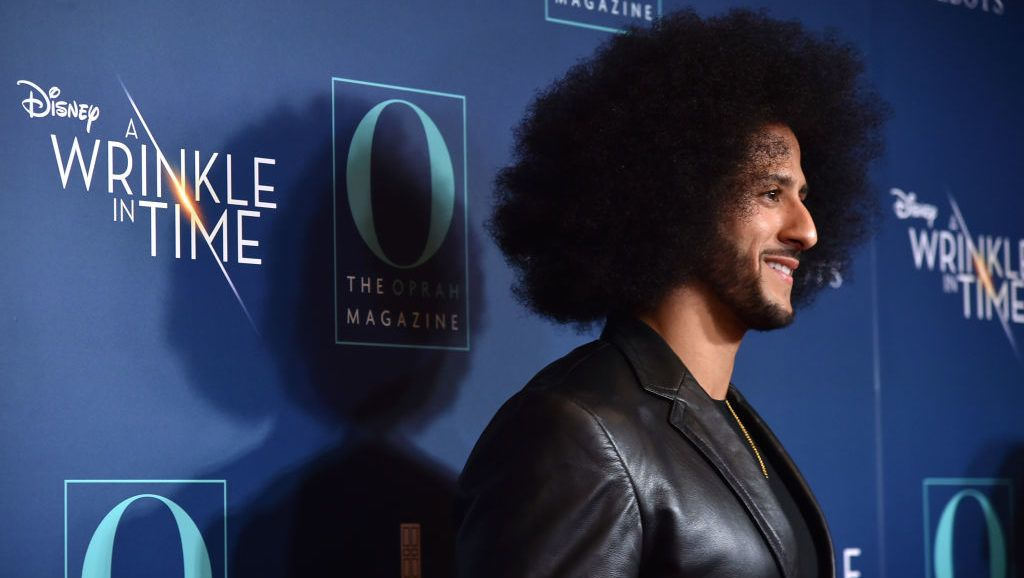 """NEW YORK, NY - MARCH 07:  Colin Kaepernick attends as O, The Oprah Magazine hosts special NYC screening of """"A Wrinkle In Time"""" at Walter Reade Theater at Walter Reade Theater on March 7, 2018 in New York City.  (Photo by Mike Coppola/Getty Images)"""