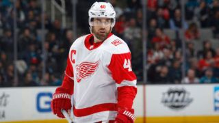 SAN JOSE, CA - MARCH 12: Henrik Zetterberg #40 of the Detroit Red Wings looks on during the game against the San Jose Sharks at SAP Center on March 12, 2018 in San Jose, California. (Photo by Rocky W. Widner/NHL/Getty Images)