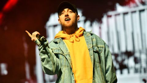 LONG BEACH, CA - APRIL 29:  Rapper Mac Miller performs onstage during the Smokers Club Festival at The Queen Mary on April 29, 2018 in Long Beach, California.  (Photo by Scott Dudelson/Getty Images)