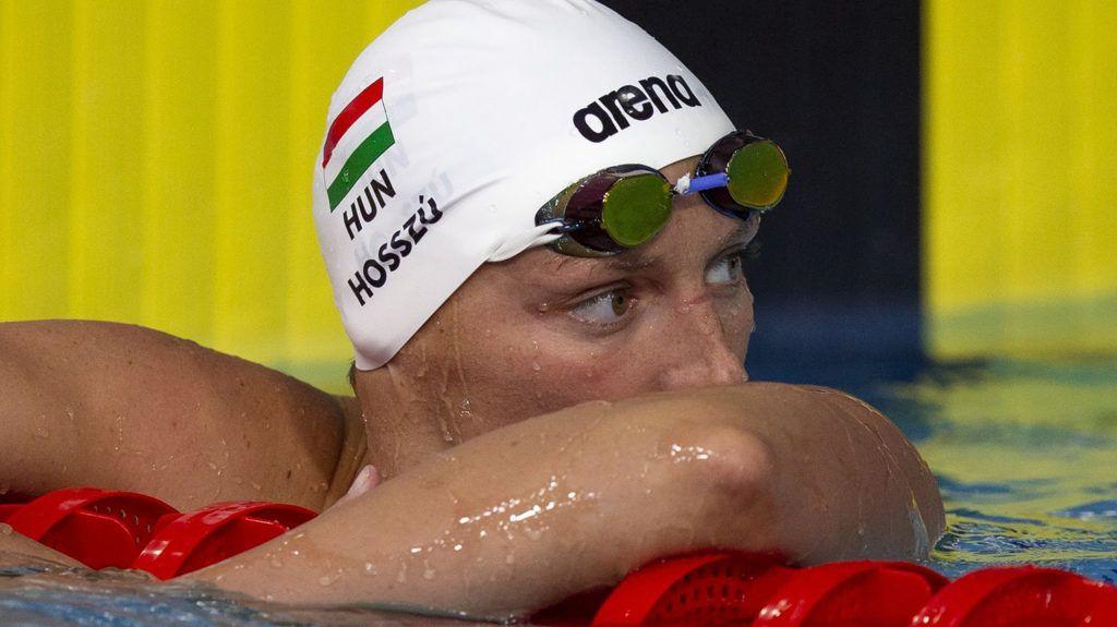 Glasgow, 2018. augusztus 7.Hosszú Katinka a glasgow-i úszó Európa-bajnokság női 100 méteres hátúszásának döntője után 2018. augusztus 7-én. Hosszú a negyedik helyen ért célba. (MTI/EPA/Patrick B. Krämer)