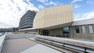Pécs, 2016. március 1. A Pécsi Tudományegyetem Dr. Entz Béla Klinikai Oktatási Központja az új épület avatásának napján, 2016. március 1-jén. MTI Fotó: Sóki Tamás