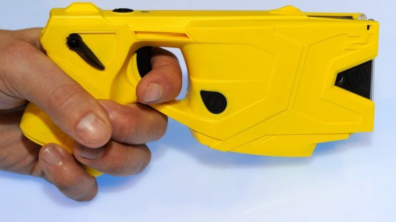 LAS VEGAS, NV - JANUARY 17: Taser International's X2 two-shot Taser for law enforcement is displayed at the National Shooting Sports Foundation's 34th annual Shooting, Hunting, Outdoor Trade (SHOT) Show at the Sands Expo and Convention Center January 17, 2012 in Las Vegas, Nevada. The device offers dual lasers to assist aiming and can fire two shots up to 25 feet to engage more than one target or one shot can serve as a backup in case the first shot misses. The SHOT Show is the largest annual gathering of shooting professionals with more than 1,600 exhibitors and 30,000 attendees expected.   Ethan Miller/Getty Images/AFP