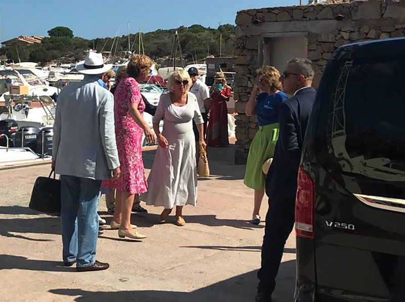 EXCLUSIVE: Camilla of Cornwall leaving Sardinia, where she spent some days on a yacht with some friends. 03 Sep 2018 Pictured: Camilla Parker Bowles, Duchess of Cornwall, Camilla of Cornwall. Photo credit: MEGA  TheMegaAgency.com +1 888 505 6342 September 3, 2018 *** Local Caption *** MEGA269864_008