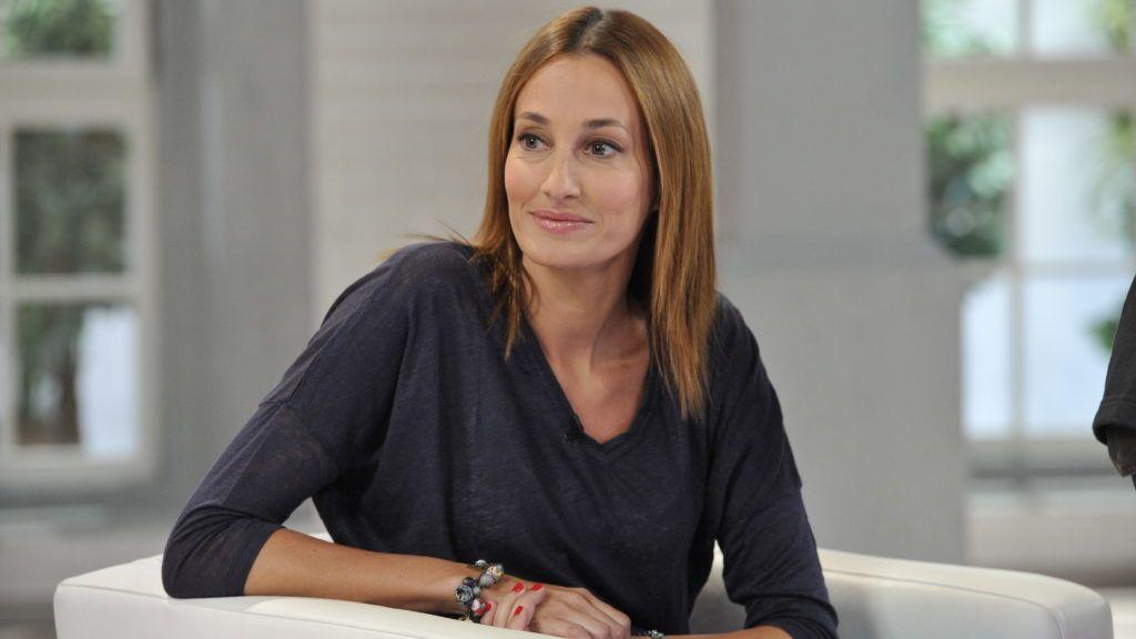 Budapest, 2013. május 28. Epres Panni modell az M1 televíziós csatorna Ridikül címû nõi beszélgetõs mûsorában, az MTVA gyártóbázisának 7-es stúdiójában.  MTVA Fotó: Zih Zsolt