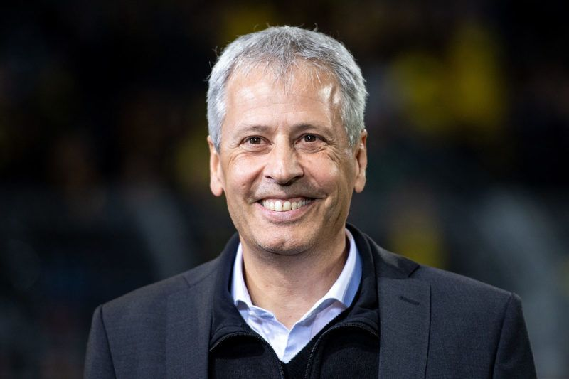 24 October 2018, North Rhine-Westphalia, Dortmund: Soccer: Champions League, Borussia Dortmund - Atletico Madrid, Group stage, Group A, 3rd matchday at Signal Iduna Park. Dortmund coach Lucien Favre looks into the round before the match. Photo: Marius Becker/dpa