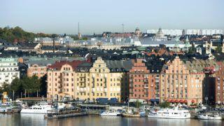 Sweden, Stockholm, Gamla Stan, waterfront view