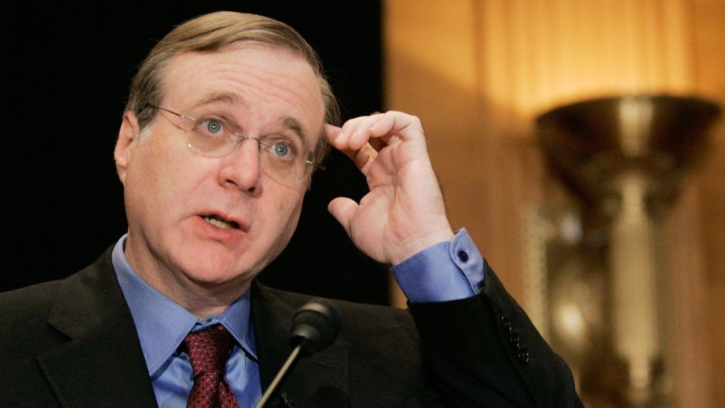 Microsoft co-founder Paul Allen speaks about the completion of the Allen Brain Atlas during a news conference on Capitol Hill 26 September 2006 in Washington, DC. The Allen Brain Atlas has potential to understand neurological diseases and disorders and furthering neuroscience research.      AFP PHOTO/Mark Wilson/Getty Images         FOR NEWSPAPERS, INTERNET, TELCOS AND TELEVISION USE ONLY