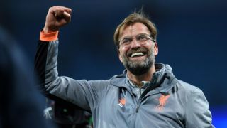 Liverpool's German manager Jurgen Klopp reacts following the UEFA Champions League second leg quarter-final football match between Manchester City and Liverpool, at the Etihad Stadium in Manchester, north west England on April 10, 2018. - Liverpol won the match 2-1. (Photo by Paul ELLIS / AFP)