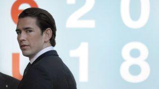 Salzburg, 2018. szeptember 19.Sebastian Kurz osztrák kancellár az Európai Unió salzburgi nem hivatalos csúcstalálkozójának vacsorájára érkezik 2018. szeptember 19-én. (MTI/EPA/Christian Bruna)