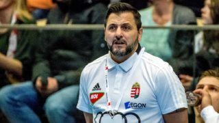 Hungary's coach Ljubomir Wranjes looks on during a friendly handball game between Sweden and Hungary at Partille Arena, in Partille on January 8, 2018.  / AFP PHOTO / TT NEWS AGENCY / Adam IHSE / Sweden OUT