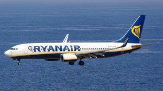 Rhodes, Greece - September 13, 2018: A Ryanair Boeing 737 airplane at Rhodes airport (RHO) in Greece.   usage worldwide