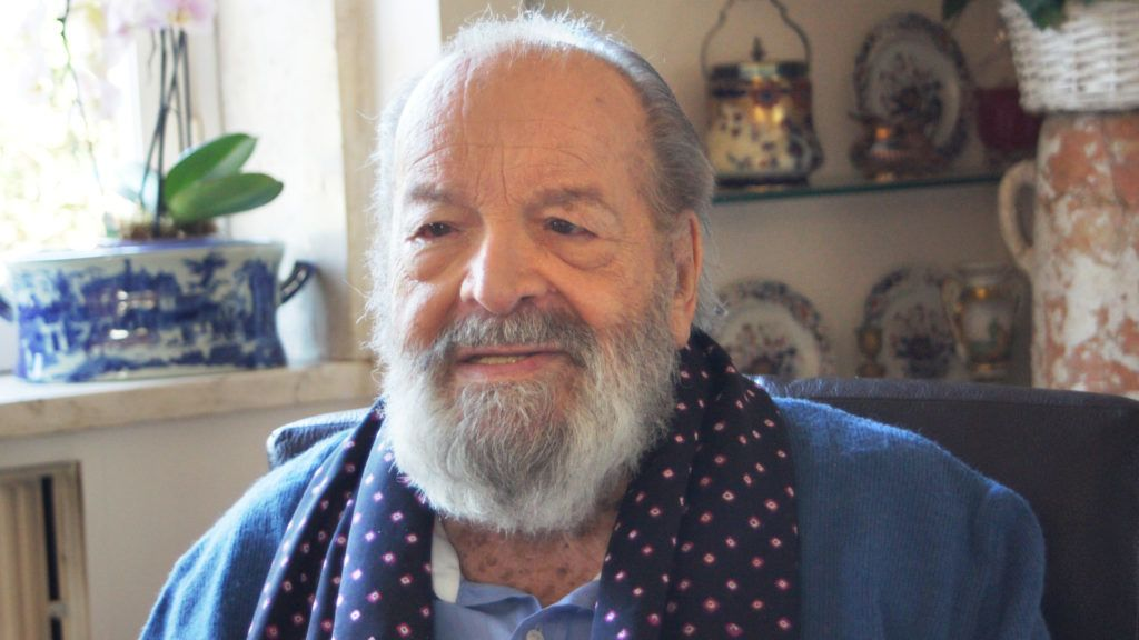 ATTENTION: BLOCKING PERIOD 21 March 00:01 - Italian actor Bud Spencer sitting in his apartment in Rome, Italy, 17 March 2016. His fourth book 'Was ich euch noch sagen wollte...' (lit. 'What I still wanted to tell you...') celebrates world premiere in Germany on 21 March 2016. Photo:Carola Frentzen/dpa