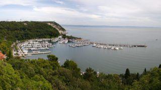 panorama: Adriatic Sea near Triest, Italy.