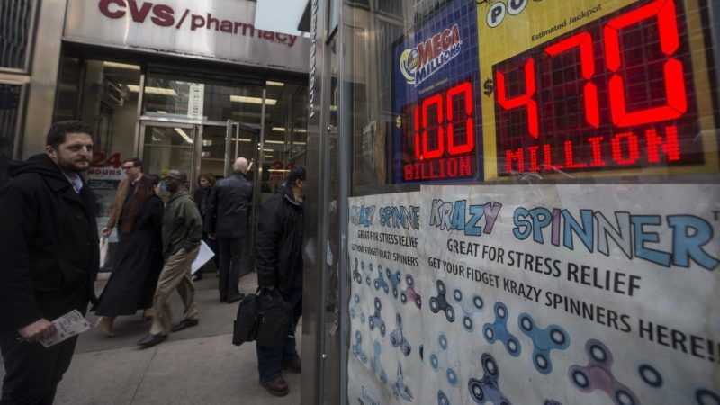 NEW YORK, USA - OCTOBER 18: A sign displays that the Mega Millions Lottery prize is estimated $1 billion before the drawing in New York, United States on October 18, 2018. Atilgan Ozdil / Anadolu Agency