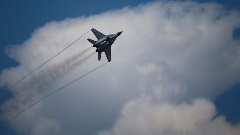 ANTALYA, TURKEY - APRIL 29: A Russian MIG-29 jet fighter performs during the last day of 'Eurasia Airshow' in Antalya, Turkey on April 29, 2018. Turkey's first aviation fair 'Eurasia Airshow' held on April 25th under the auspices of the Turkish Presidency. Mustafa Ciftci / Anadolu Agency