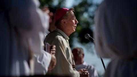 Csévharaszt, 2017. június 25.Beer Miklós váci megyés püspök szentmisét mutat be Csévharaszton, a Váci Egyházmegyei Találkozón 2017. június 24-én.MTI Fotó: Koszticsák Szilárd