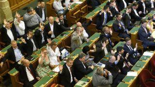 Budapest, 2017. augusztus 21.Az MSZP-frakció szavaz az Országgyűlés rendkívüli plenáris ülésén 2017. augusztus 21-én.MTI Fotó: Bruzák Noémi