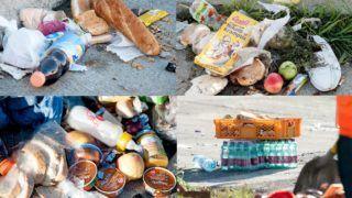 Nickelsdorf, 2015. szeptember 6. Továbbutazó illegális bevándorlók által hátrahagyott élelmiszer a magyar-osztrák határ ausztriai oldalán, Nickelsdorfnál (Miklóshalma) 2015. szeptember 6-án. MTI Fotó: Krizsán Csaba