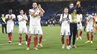 London, 2018. október 4. A Vidi játékosai a labdarúgó Európa-liga L csoportjában játszott Chelsea - Vidi FC mérkõzésen a londoni Stamford Bridge stadionban 2018. október 4-én. A Chelsea 1-0-ra gyõzött. MTI Fotó: Koszticsák Szilárd