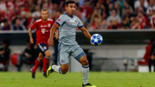 MUNICH, GERMANY - AUGUST 28: Brandon Vincent of Chicago Fire controls the ball during the friendly match between FC Bayern Muenchen and Chicago Fire at Allianz Arena on August 28, 2018 in Munich, Germany. (Photo by TF-Images/Getty Images)