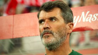 WROCLAW, POLAND - SEPTEMBER 11:  Assistant Manager / Coach of Republic of Ireland Roy Keane looks on prior to the international friendly match between Poland and Republic of Ireland at the Stadion Miejski on September 11, 2018 in Wroclaw, Poland. (Photo by Matthew Ashton - AMA/Getty Images)