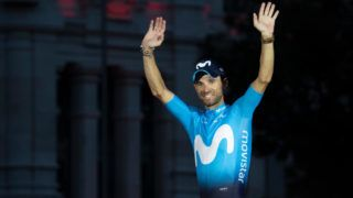 Alejandro Valverde of Spain and Movistar Team Green Points Jersey / Celebration / Madrid Town Hall / Plaza Cibeles / during the 73rd Tour of Spain 2018, Stage 21a 100,9km stage from Alcorcon to Madrid / La Vuelta / on September 16, 2018 in Madrid, Spain. (Photo by Oscar Gonzalez/NurPhoto via Getty Images)