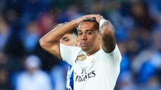 VITORIA-GASTEIZ, SPAIN - OCTOBER 06:  Mariano of Real Madrid CF reacts during the La Liga match between Deportivo Alaves and Real Madrid CF at Estadio de Mendizorroza on October 6, 2018 in Vitoria-Gasteiz, Spain.  (Photo by Juan Manuel Serrano Arce/Getty Images)