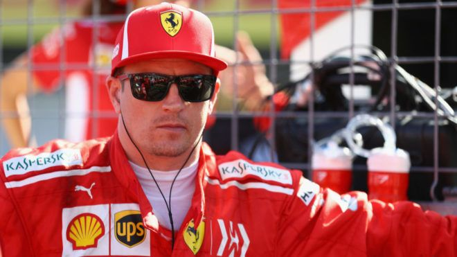 SUZUKA, JAPAN - OCTOBER 07:  Kimi Raikkonen of Finland and Ferrari prepares to drive on the grid before the Formula One Grand Prix of Japan at Suzuka Circuit on October 7, 2018 in Suzuka.  (Photo by Mark Thompson/Getty Images)