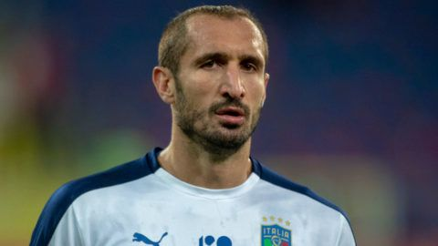 Giorgio Chiellini of Italy during the UEFA Nations League A match between Poland and Italy at Silesian Stadium in Chorzow, Poland on October 14, 2018 (Photo by Andrew Surma/NurPhoto via Getty Images)