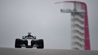 AUSTIN, TX - OCTOBER 19: Lewis Hamilton of Great Britain driving the (44) Mercedes AMG Petronas F1 Team Mercedes WO9 on track during practice for the United States Formula One Grand Prix at Circuit of The Americas on October 19, 2018 in Austin, United States.  (Photo by Clive Mason/Getty Images)