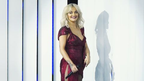 MILAN, ITALY - OCTOBER 25:  Rita Ora attends X Factor tv show at Teatro Linear Ciak on October 25, 2018 in Milan, Italy.  (Photo by Stefania D'Alessandro/Getty Images)