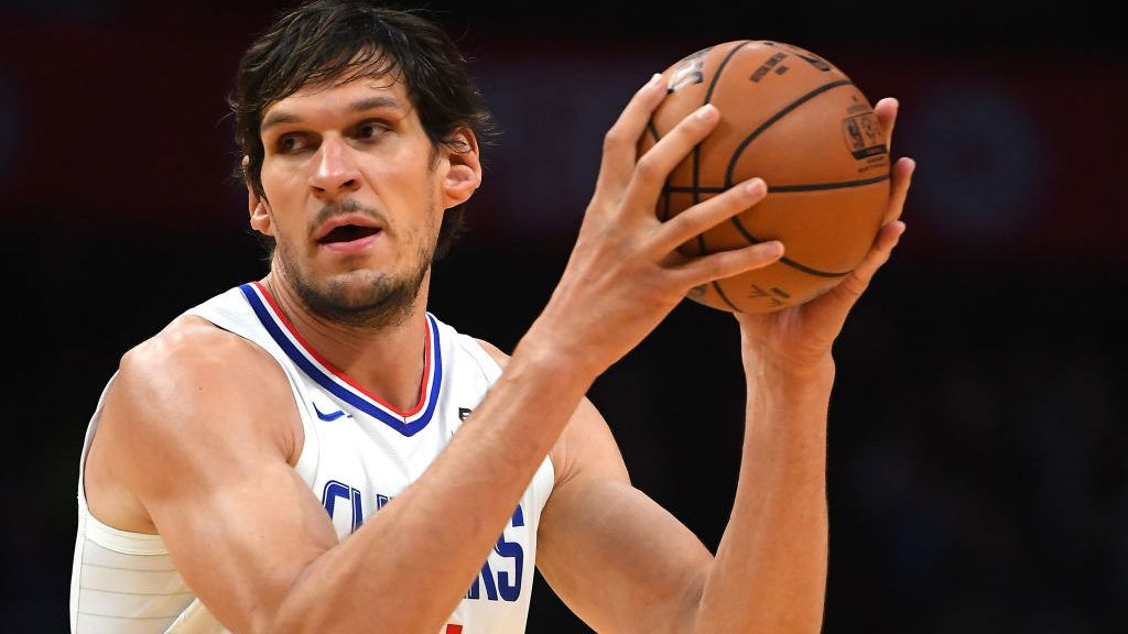 LOS ANGELES, CA - OCTOBER 11:  Boban Marjanovic #51 of the Los Angeles Clippers looks for a shot in the game Maccabi Haifa at Staples Center on October 11, 2018 in Los Angeles, California. NOTE TO USER: User expressly acknowledges and agrees that, by downloading and/or using this Photograph, user is consenting to the terms and conditions of the Getty Images License Agreement  (Photo by Jayne Kamin-Oncea/Getty Images)