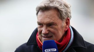 SWANSEA, WALES - MARCH 17: Glenn Hoddle reporting for BT Sport before The Emirates FA Cup Quarter Final match between Swansea City and Tottenham Hotspur at Liberty Stadium on March 17, 2018 in Swansea, Wales. (Photo by Catherine Ivill/Getty Images)