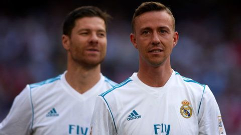 MADRID, SPAIN - JUNE 03:  Jose Maria Gutierrez 'Guti' of Real Madrid looks on prior to the Corazon Classic match between Real Madrid Legends and Arsenal Legends at Estadio Santiago Bernabeu on June 3, 2018 in Madrid, Spain.  (Photo by Quality Sport Images/Getty Images)