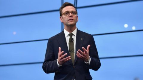 NEW YORK, NY - APRIL 19: CEO of 21st Century Fox James Murdoch speaks at National Geographic's Further Front Event at Jazz at Lincoln Center on April 19, 2017 in New York City.   Bryan Bedder/Getty Images for National Geographic/AFP