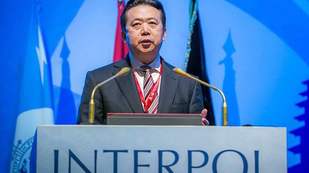 Szingapúr, 2018. október 5. Az Interpol által 2018. október 5-én közreadott dátummegjelölés nélküli kép Meng Hung-vejrõl, az Interpol nemzetközi rendõri szervezet elnökérõl Balin. Sajtóhírek 2018. október 5-én azt közölték rendõrségi forrásokra hivatkozva, hogy nyomozást indított a francia rendõrség, miután Meng felesége bejelentést tett férje eltûnésérõl. Meng felesége nem hallott férjérõl azóta, hogy Meng szeptember végén Kínába utazott. (MTI/EPA/Interpol)