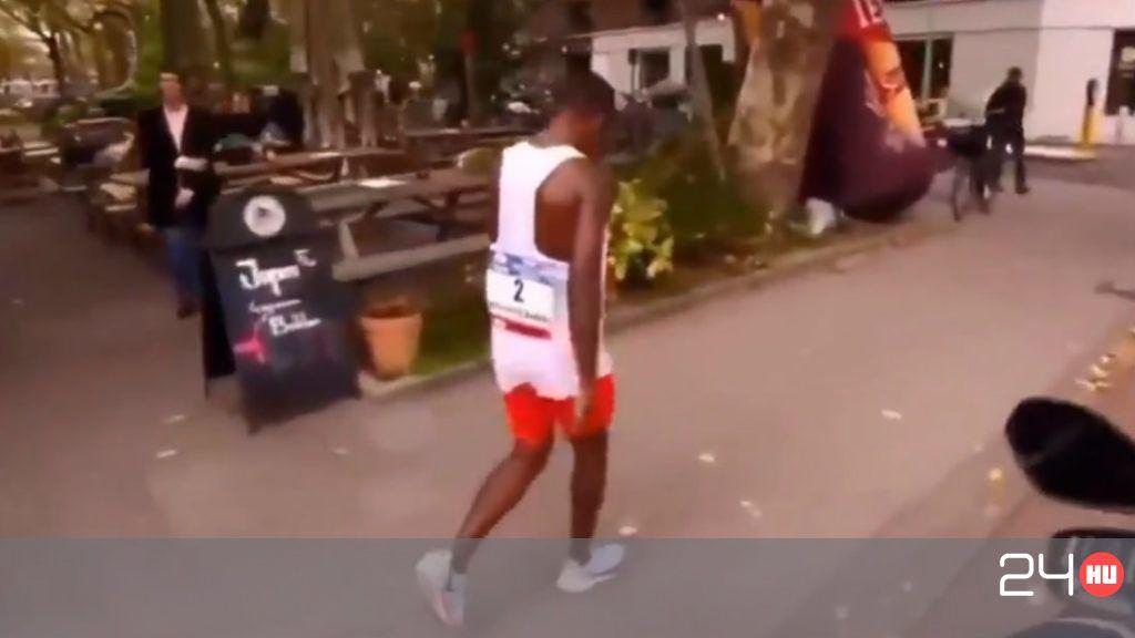 A cél előtt feladta a maratont, és a szállodájába sétált a futó