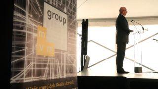 Felsőzsolca, 2018. február 28. Zsuga János, az MVM Magyar Villamos Művek Zrt. vezérigazgatója beszédet mond az Európai Unió Környezeti és Energiahatékonysági Operatív programjában Felsőzsolca határában épülő naperőmű ünnepélyes alapkőletételén 2018. február 28-án. MTI Fotó: Vajda János