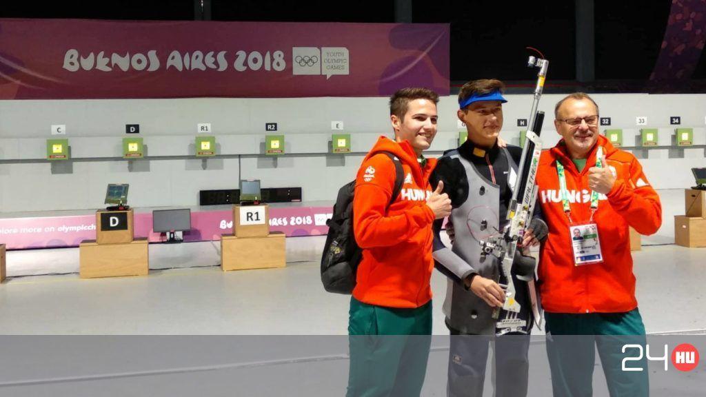 Pekler Zalán aranyat lőtt az ifjúsági olimpián