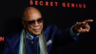 LOS ANGELES, CA - NOVEMBER 01:  Record producer Quincy Jones arrives at Spotify's Inaugural Secret Genius Awards on November 1, 2017 in Los Angeles, California.  (Photo by Amanda Edwards/WireImage)