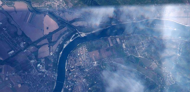 Az űrből is látszik a kiszáradt Duna