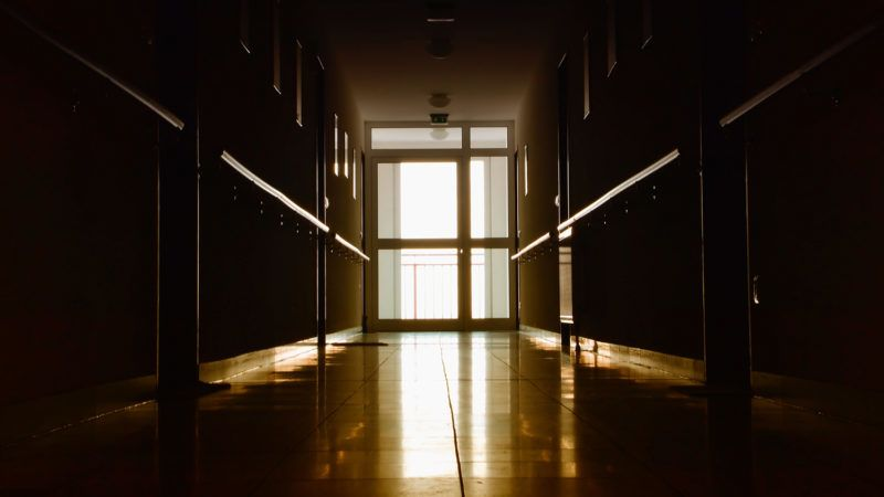 Corridor in a no longer exists nursing home