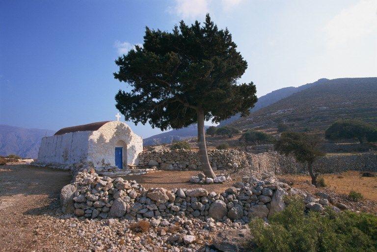 St. Stephanos chapel, Tilos, Dodecanese, Greek Islands, Greece, Europe