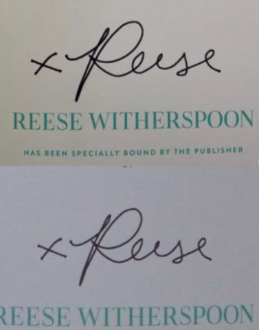 """Reese Witherspoon is wrapped up in a controversy after fans online learned that the """"Signed Edition"""" of the actress' new book, Whiskey in a Tea Cup, is not actually autographed by Reese herself, but is signed by an autopen machine which holds a pen and repeatedly reproduces her signature on as many books as they'd like to sell. Expert autograph authenticator Justin Steffman, CEO and Lead Authenticator of AutographCOA.com (ACOA) Authentication, first discovered the autopen usage after a fan submitted a Signed Edition for review. After gathering signature samples of the Signed Edition from various fans, Steffman was able to identify completely identical signatures found on multiple books sold, as well as noticing heavy pressure points at every start and end point, a tell-tale sign of a fake autopen machine autograph. To help avoid being easily discovered, Reese's books use at least 5 different signature patterns to produce unlimited Signed Editions. Witherspoon's book has been sold with """"Signed Editions"""" offering fake autographs through multiple major outlets like Barnes & Noble and Amazon. They are typically priced for $28.00 each, and sales have put her book into the Best Sellers list on these sites. The fake autographed books have also made their way to eBay, selling for up to $60 each as autographed. When asked for comment, authenticator Justin Steffman had this to say: """"It's really sad to hear from heartbroken fans who believed Reese had taken the time to sign the book they purchased online as promised, only to learn they were mislead and sold a fake autograph. The publisher and Witherspoon should make it right and stop selling these fake signatures to her fans."""". 30 Oct 2018 Pictured: Reese Witherspoon. Photo credit: RACC / MEGA  TheMegaAgency.com +1 888 505 6342 October  , 2018 *** Local Caption *** MEGA300170_003"""