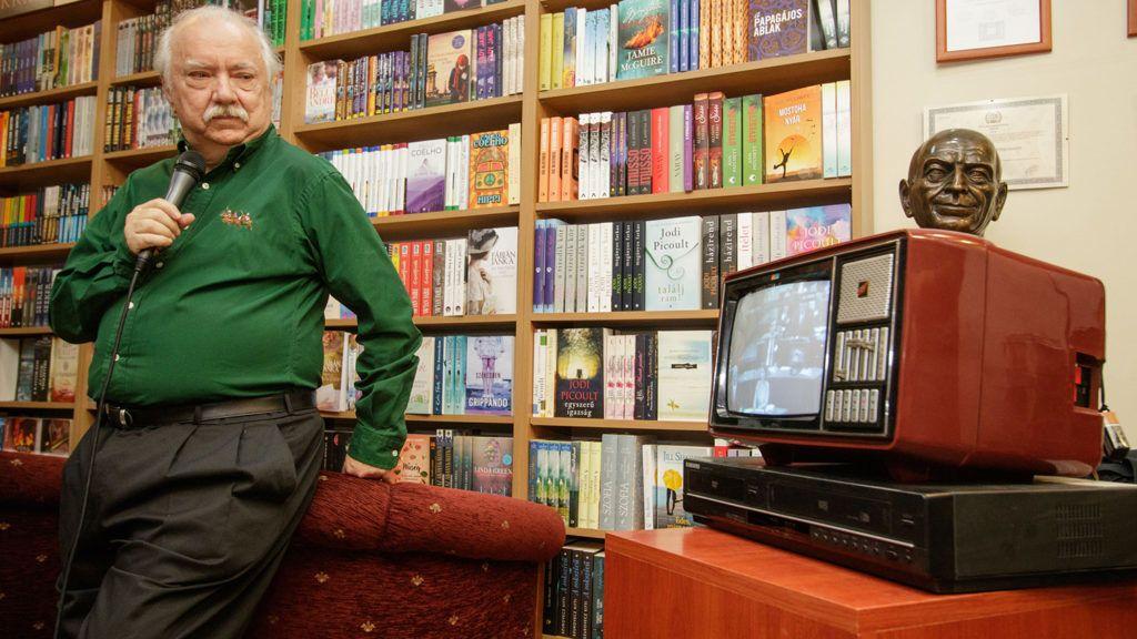 Farkasházy Tivadar:Pacsirta a Dunán c. könyvének bemutatója.A képen Farkasházy Tivadar.2018.11.12.Fotó:Vörös Szilárd
