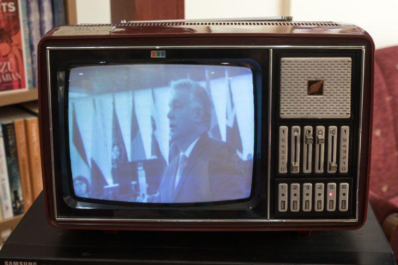 Orbán Viktor Kádár Tv-jében.2018.11.16.Fotó:Vörös Szilárd