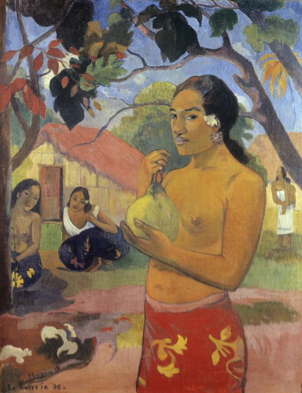 Paul Gauguin's Woman Holding a Fruit. 1893. State Hermitage Museum, St Petersburg.