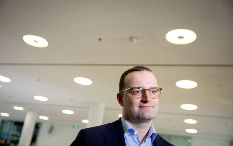 05 November 2018, Berlin: Jens Spahn (CDU), Federal Minister of Health, speaks to media representatives at the CDU headquarters, the Konrad Adenauer House. This is where the party leadership meets for a closed conference. Photo: Kay Nietfeld/dpa