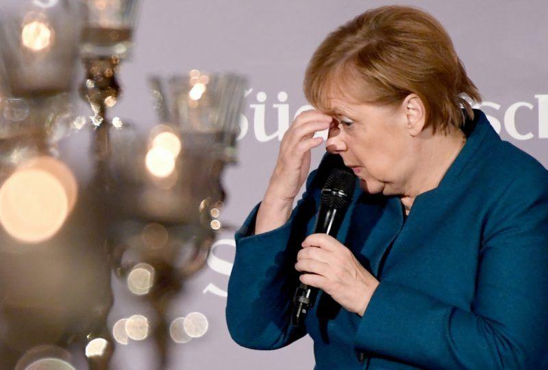 13 November 2018, Berlin: Chancellor Angela Merkel (CDU) speaks at the 12th economic summit of the Süddeutsche Zeitung. Photo: Britta Pedersen/dpa-Zentralbild/dpa